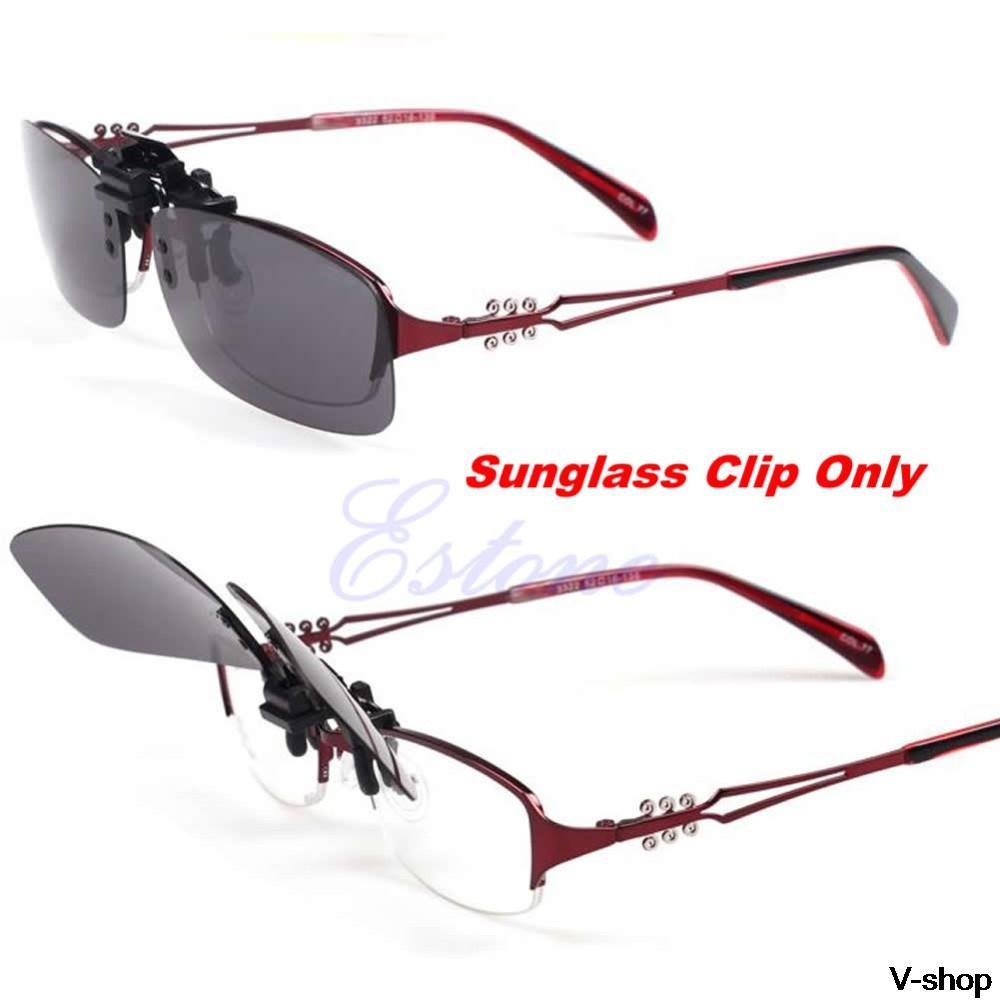 15fd225117e Hot Clip-on Flip-up Lens Polarized Day Night Vision Sunglasses ...