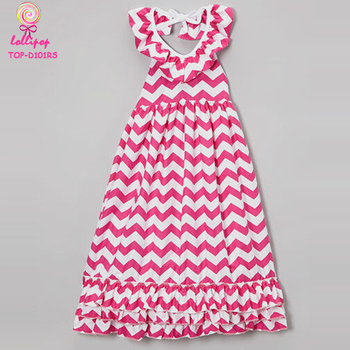 fe73a4196 New Model Baby Cotton Frocks Designs Hot Pink White Chevron Children Frock  Model Casual Children Frocks Designs - Buy Children Frocks Designs