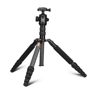 Q668C Panoramic Damping carbon fiber photo stand tripod with monopod for digital camera/mobile phone , accept OEM order tripod