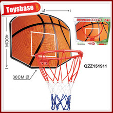 Plastic basketball board and hoop