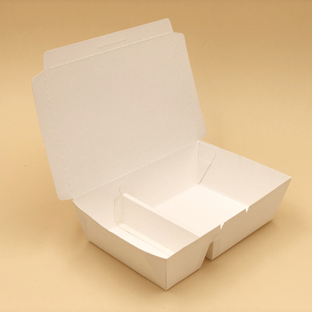 Disposable Kraft Paper Lunch Box 2 Compartment Box
