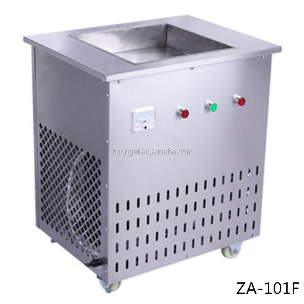 Guangzhou Zhongai Factory Thailand Rolled Fried Ice Cream Machine Prices Sale