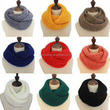 Winter used multicolor sunflower shape gift for loves knitted scarf