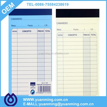 ncr paper popular receipt book invoice book memo book for hotels and