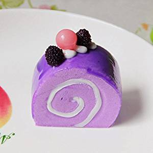 Purple Artificial Simulation Triangular Tllips Round Cake Fridge Magnet Home Decor
