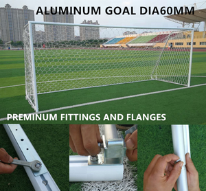 Club Spec dia60mm all aluminum folding soccer goal very easy to install for home & club training