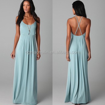 Long Maxi Dress Knitted China Wholesale Rayon/spandex Pleated ...