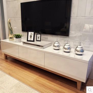 Tv armoires blanc bois de peinture combinaison de ... - Meuble Tv Blanc Ikea