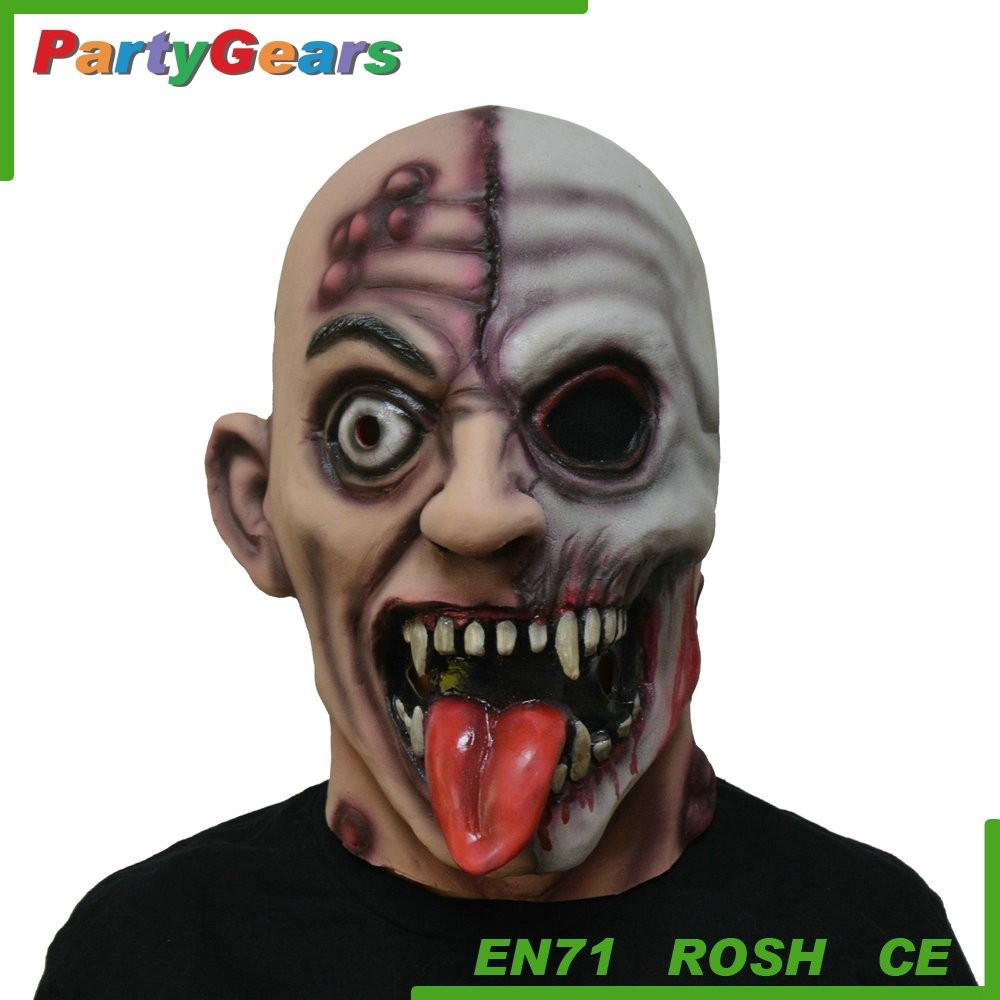 Hot Sale Latex Glowing Vampire Halloween Horror Party Mask - Buy ...