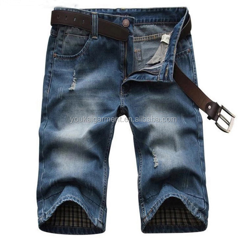wholesales china funky jeans for men skinny plus size denim short pants short jeans shorts half pants