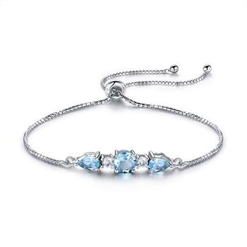 RIVSB03 High Quality Bracelet Rhodium Plated Silver Jewelry 925 Adjustable Bracelets