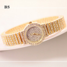 Bracelet Band Rhinestone Heart Golden Watch Dial Girl Latest Hand chain Watch