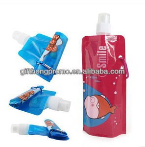 Promo items bpa free foldable water bottle