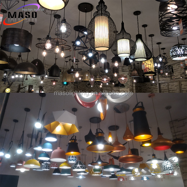 China manufacturer Edison lighting resource custom office study room loft pendant light modern fancy hemp rope ceiling lamp
