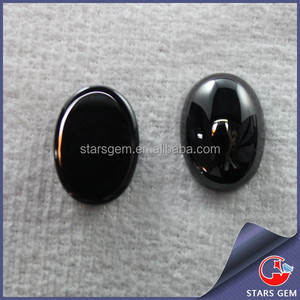 Black agate color flat bottom Loose CZ Stones Wholesale