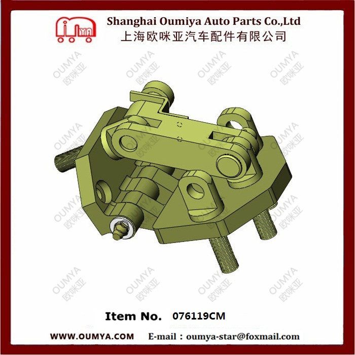 Heavy duty hinge/steel T shaped strap gate hinge with stiffener 076119CM