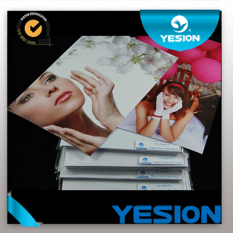 Yesion Premium 2014 Hot Sale 260gsm A4, A3,A5,3R 4R 5R RC Silky/Woven Photo Paper
