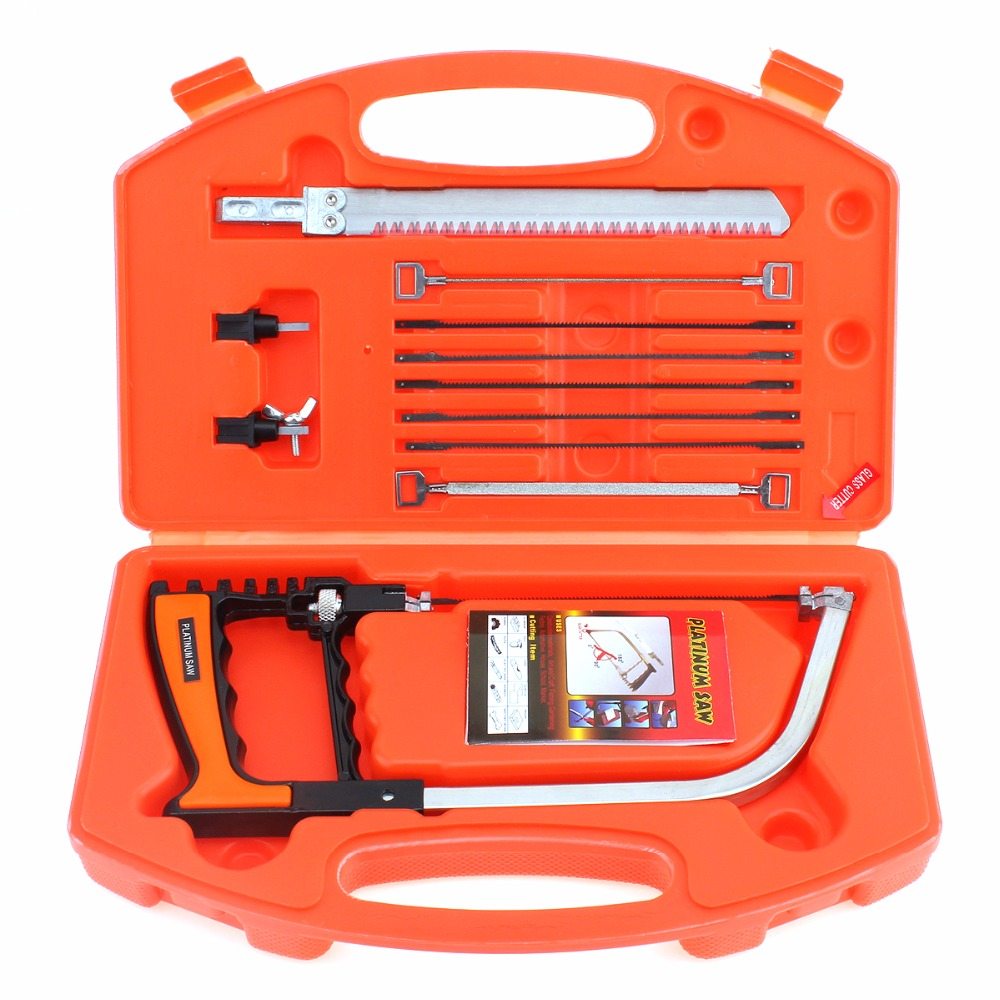 12 in 1 Multifunction Magic Saw Hand DIY Saw Hacksaw Kit for Cutting Wood / Metal / Glass / Plastic / Rubber