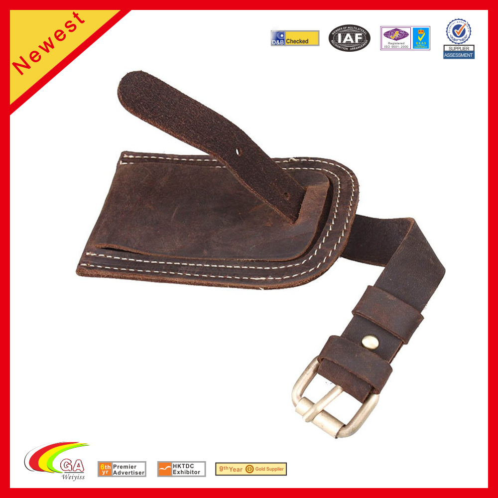 weiyi fashion luxury real leather hang tag luggage tag for souvenir gift in shenzhen