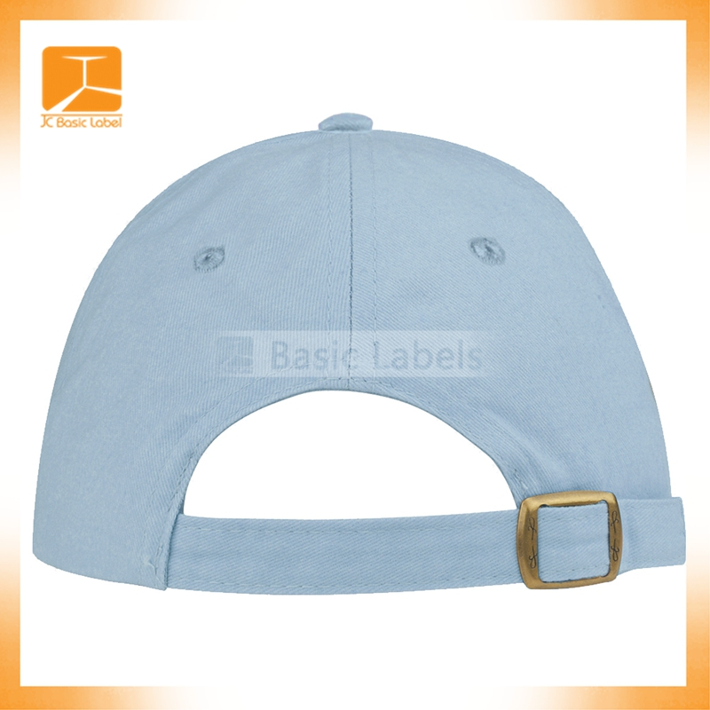 China Factory Daijun New Design OEM Hot Sale High Quality 100% Cotton Blue Metal Buckle Embroidered Men Custom Denim Hat