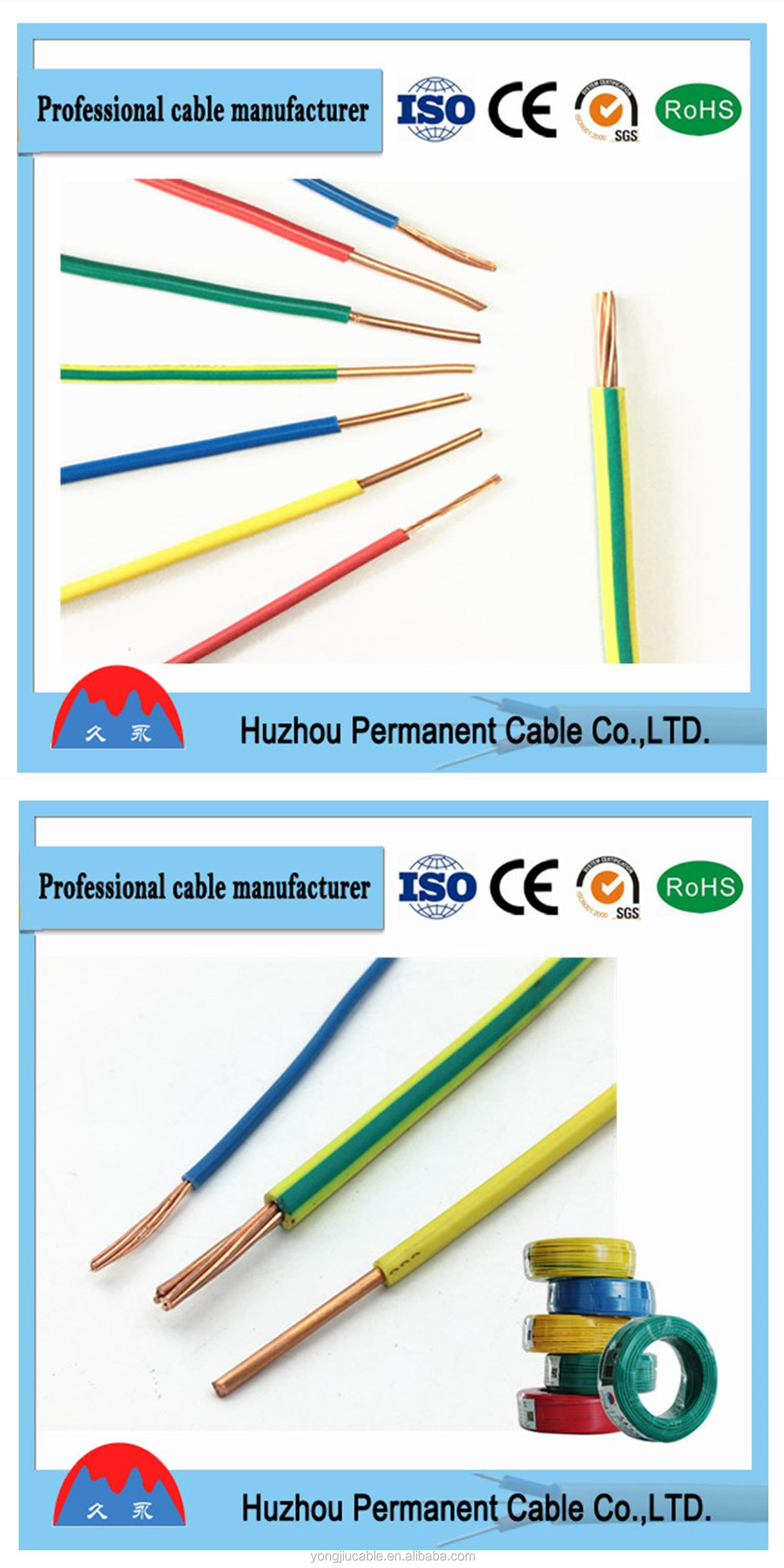 Copper Conductor PVC Insulation Electrical Cable Wire Made in China
