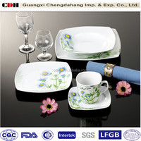 20pcs half decal recyclable dinning table set