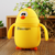 New Cute Chick Style Stainless Steel Water Bottle with Straw for Kids Travel Vacuum with Straw
