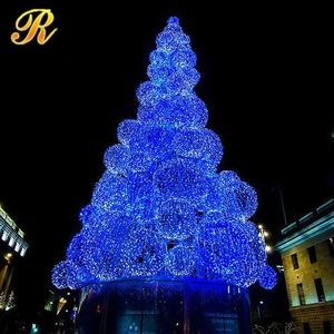 Commercial Led Decorations Ceramic Christmas Tree Ornaments