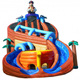 Newest design cheap playground equipment inflatable water slide in water for sale