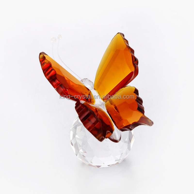 Crystal Butterfly Paperweight Cut Glass Wedding Favor Collectibles Gifts