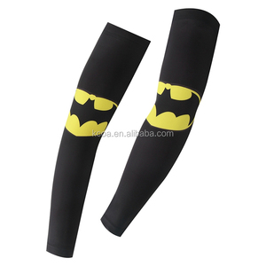 cheap custom made new design spandex sports cycling uv protective cooling compression arm sleeve