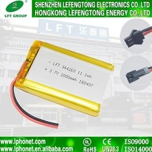 Safety and reliable li polymer battery li-ion battery 3.7v 3000mah for digital camera 944260