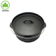 High quality vegetable oil coating flat bottom cast iron dutch oven/camping pot for outdoor cookware