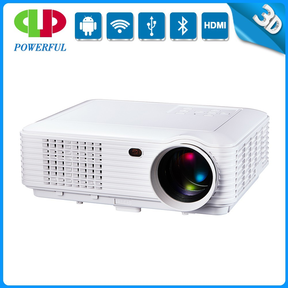 The best quality of mobile phone with mini 3D and 3500 lumens led projector with wifi