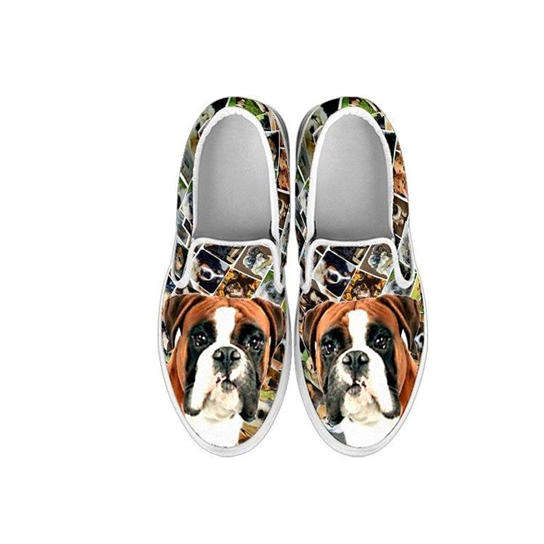 EU32 1 Youth Choose Your Pet Breed , Bulldog Kids Slip Ons-Lovely Dog Print Amazing Slip Ons Shoes