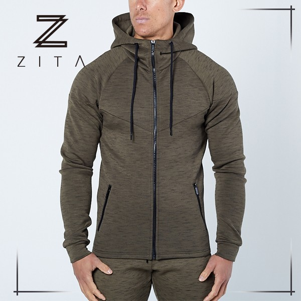 Trade Assurance Mens Fitness Clothing Gym Hoodies Plain Fitted Tracksuit