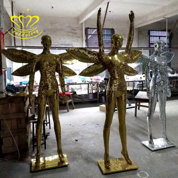 New product fiberglass mosaic sculpture life size figure statue for home decoration
