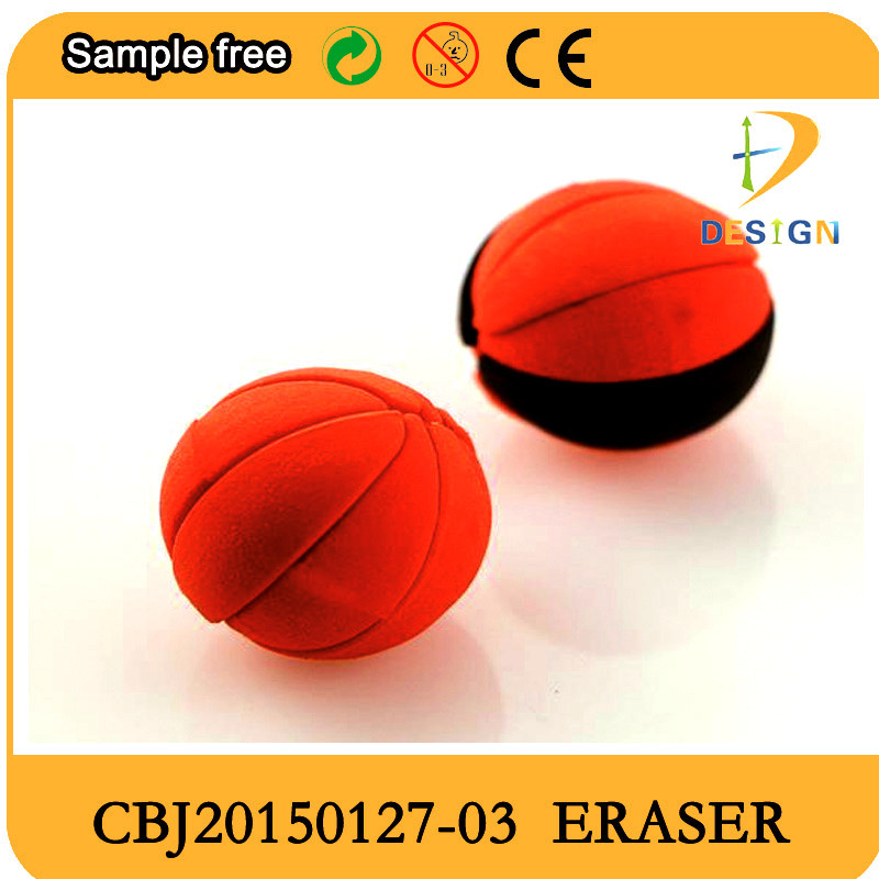 2015 new style basketball shaped 3d eraser