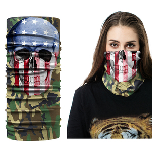Custom Printing Multifunctional Seamless Skull Face Shield Bandana