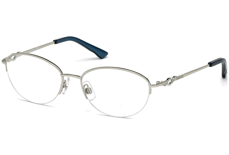 Get Quotations · SWAROVSKI SK 5148 Eyeglasses 016 Shiny Palladium bb20a8386e5
