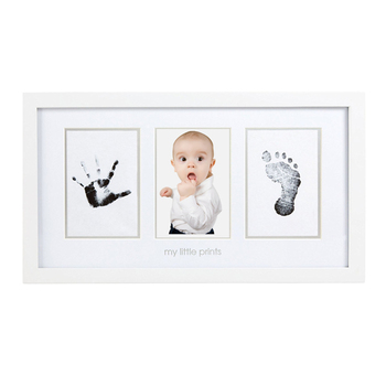 White Wholesale Mdf Wooden Inkless Baby Hand And Footprint Picture ...