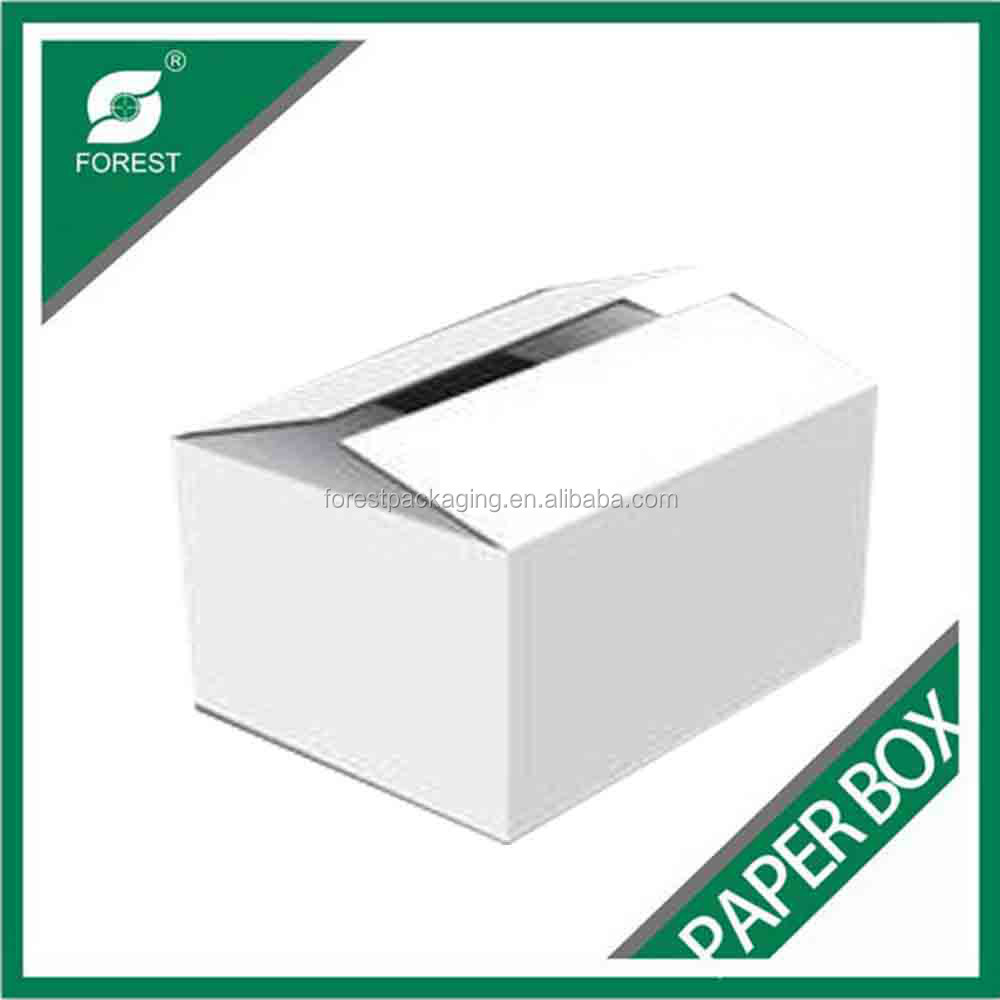 MANUFACTURER A/B/E/F FLUTE CUSTOMIZED WHITE PACKING/SHIPPING BOXES