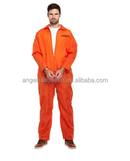 Orange Prisoner Jumpsuit Killer Adult Men Fancy Dress Halloween Costume  Ac5091 , Buy Halloween Costume,Costume,Prisoner Costume Product on  Alibaba.com
