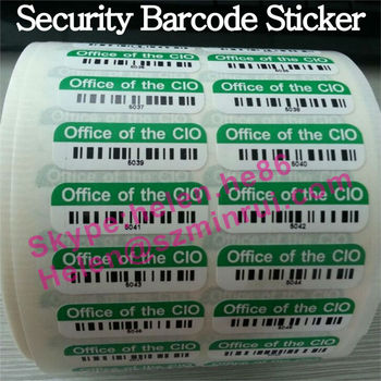 Hi Tack Ultra Destructible Vinyl Security Barcode Label