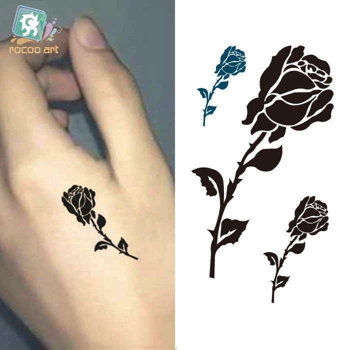 Buy Rose Henna Tattoo New Design Fashion Temporary Tattoo Stickers