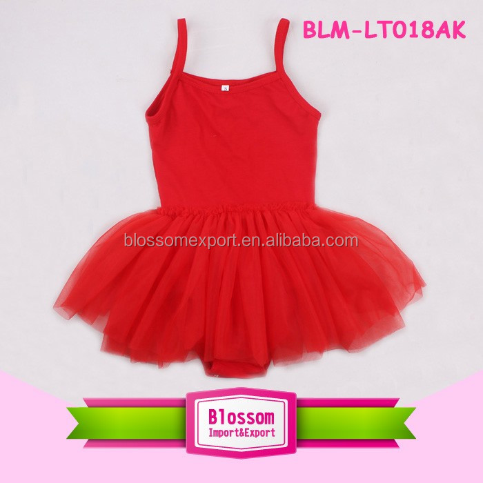 Baby Newest Leotard Design Tutu Dress Girl Gymnastics Skate Dancewear Solid Blank Red Rhythmic Skirted Leotard Ballet
