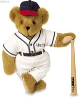 cute Harry brown baseballer stuffed teddy bear with outfit