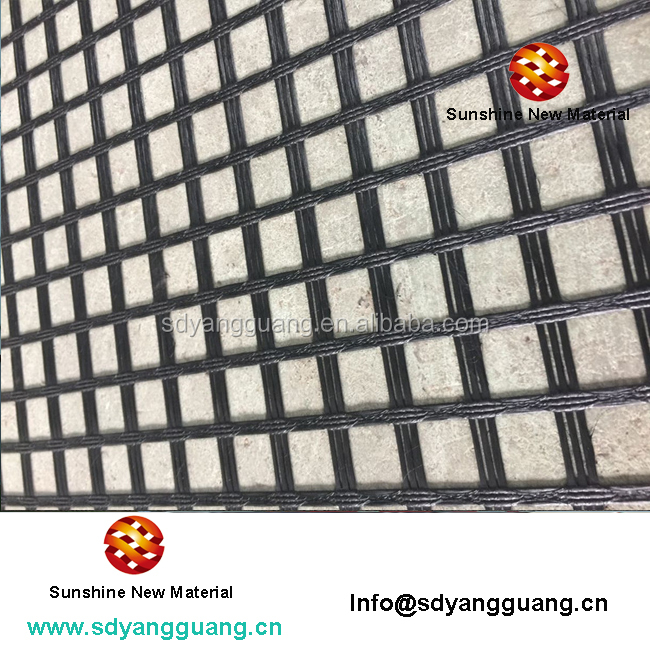 high quality woven geogrid 100kn fiberglass geogrid for asphalt layers