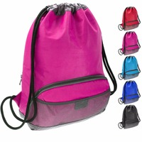 Waterproof Fabric Swim Gym Sports Drawstring Backpack Bags for Kids, Men and Women