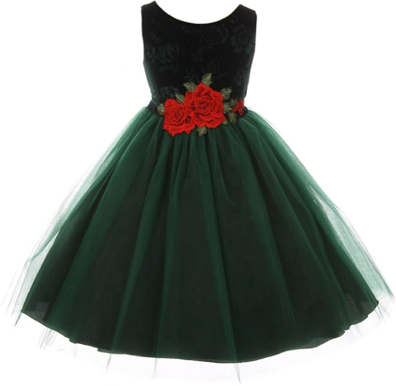 da0ec5ece Cheap Green Velvet Dress Girls